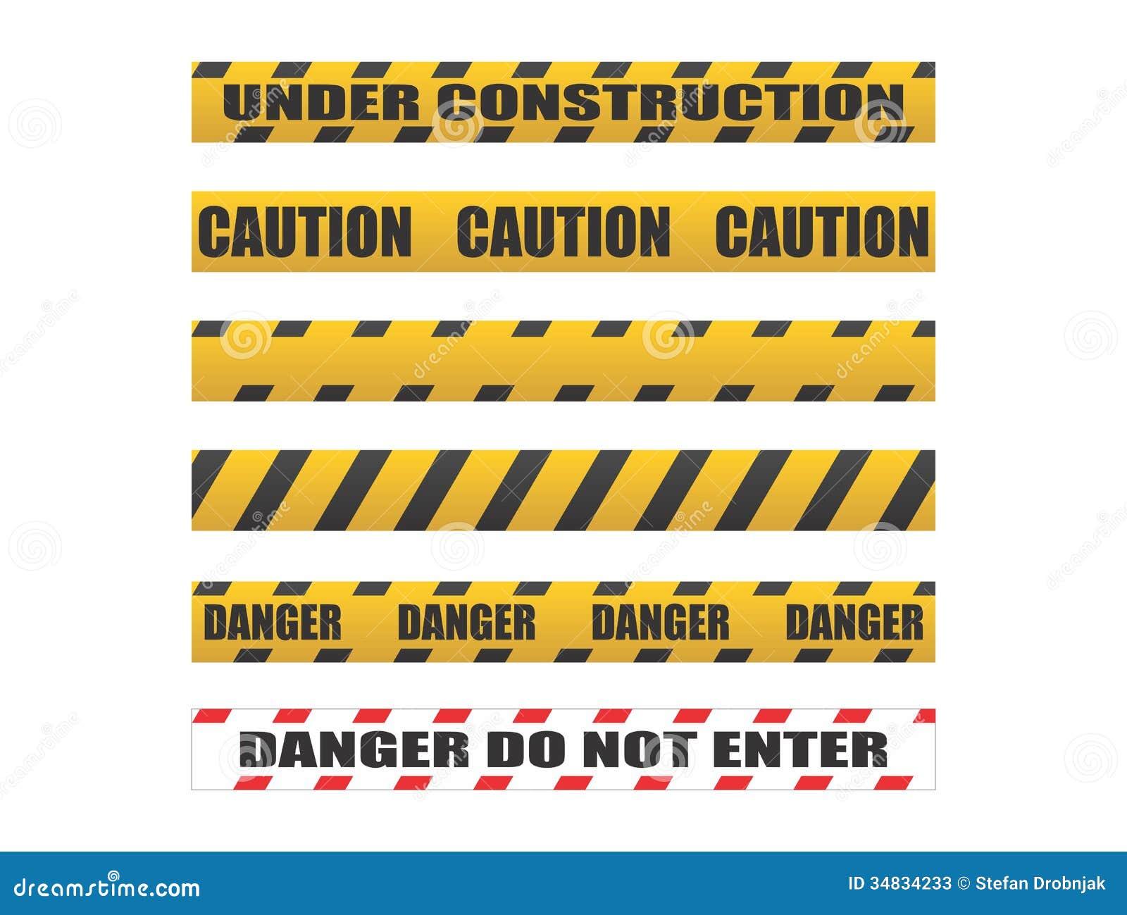 Under Construction Tape Background Caution Tapes, Danger ...