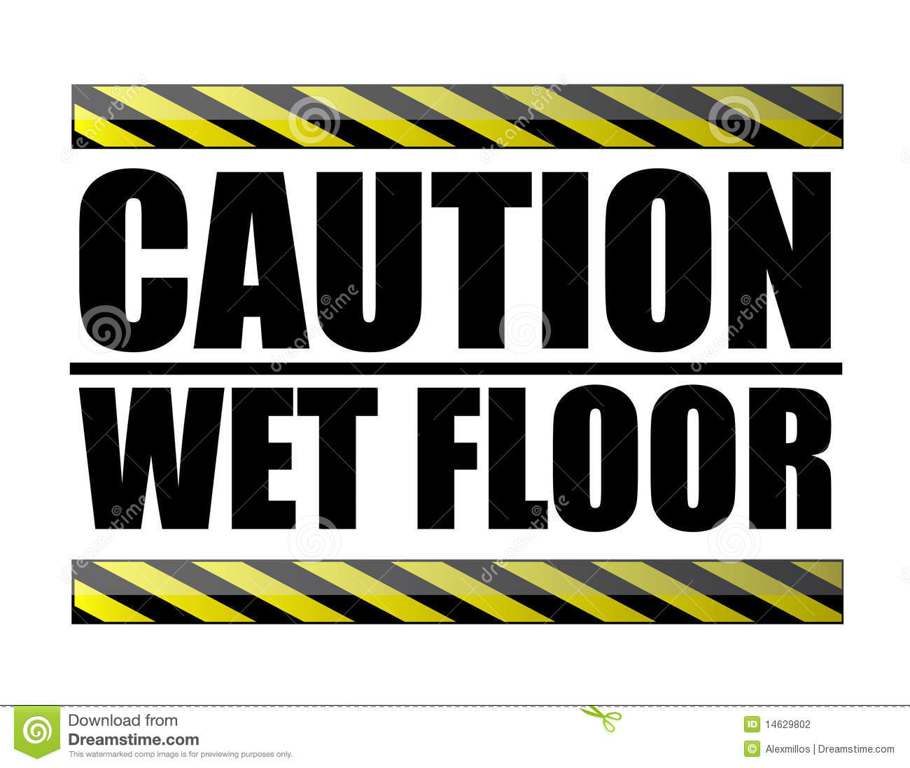 picture about Wet Floor Signs Printable called Warning Moist Area Inventory Examples 784 Warning Moist