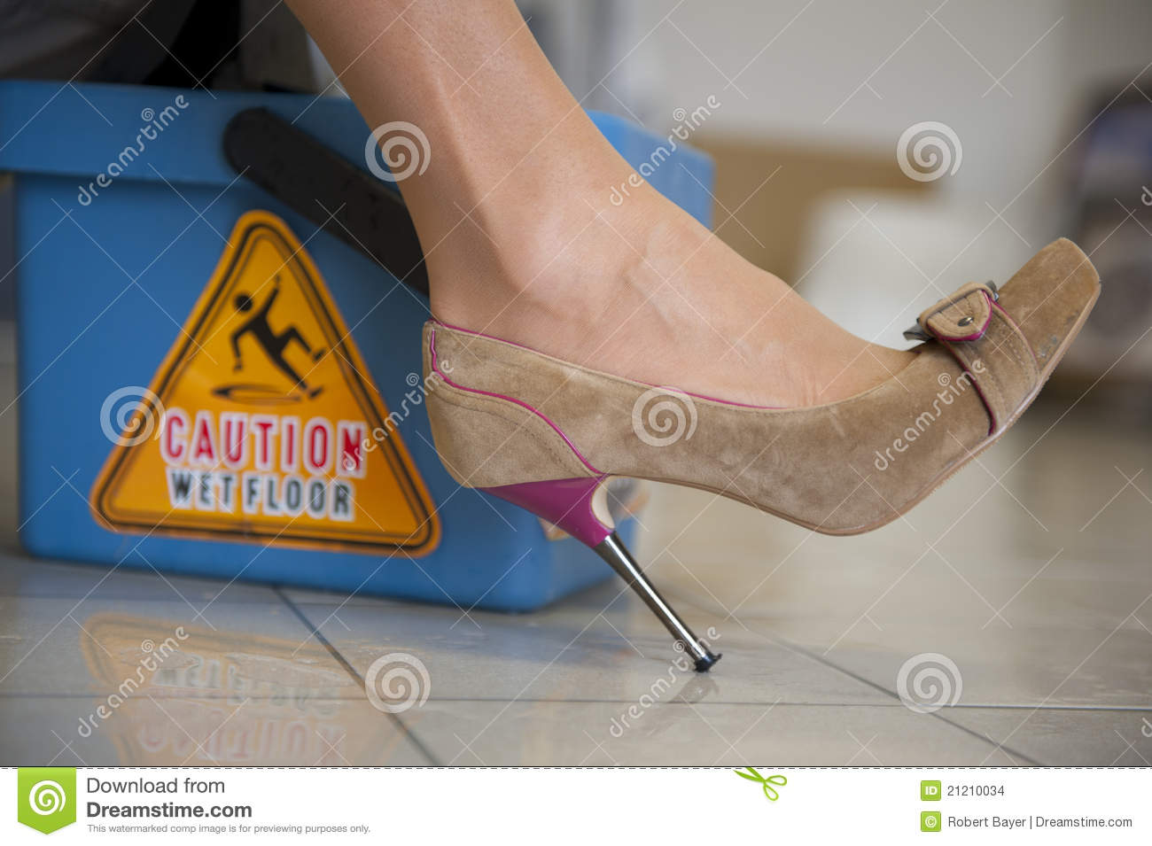 Caution wet floor stock images image 21210034 for How to keep shoes from slipping on floor