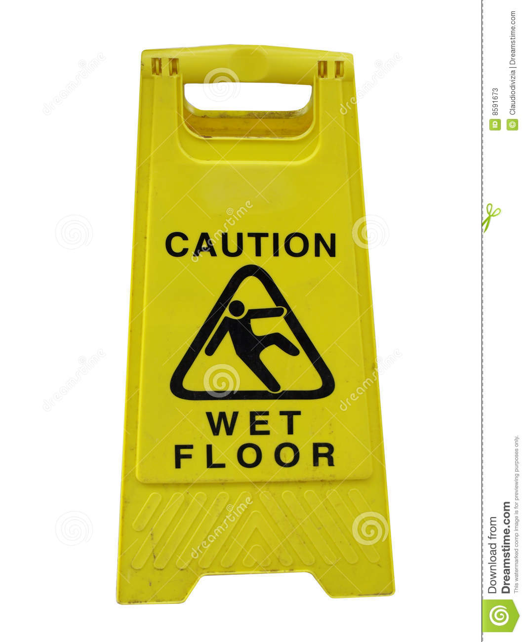 Caution Wet Floor Stock Image Image Of White Isolated