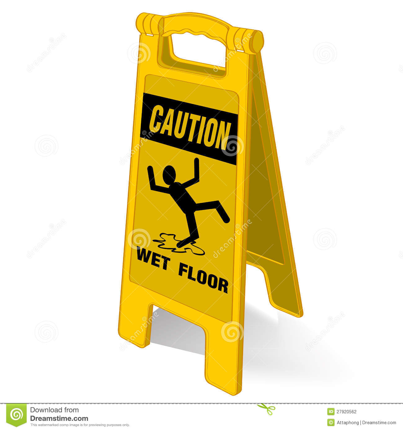 caution wet floor sign stock photography image 27920562. Black Bedroom Furniture Sets. Home Design Ideas