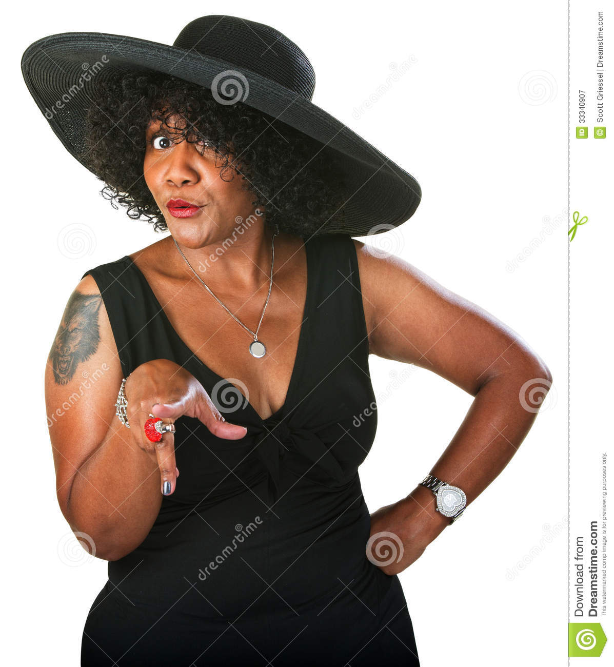 cautious black woman stock image. image of doubting, background