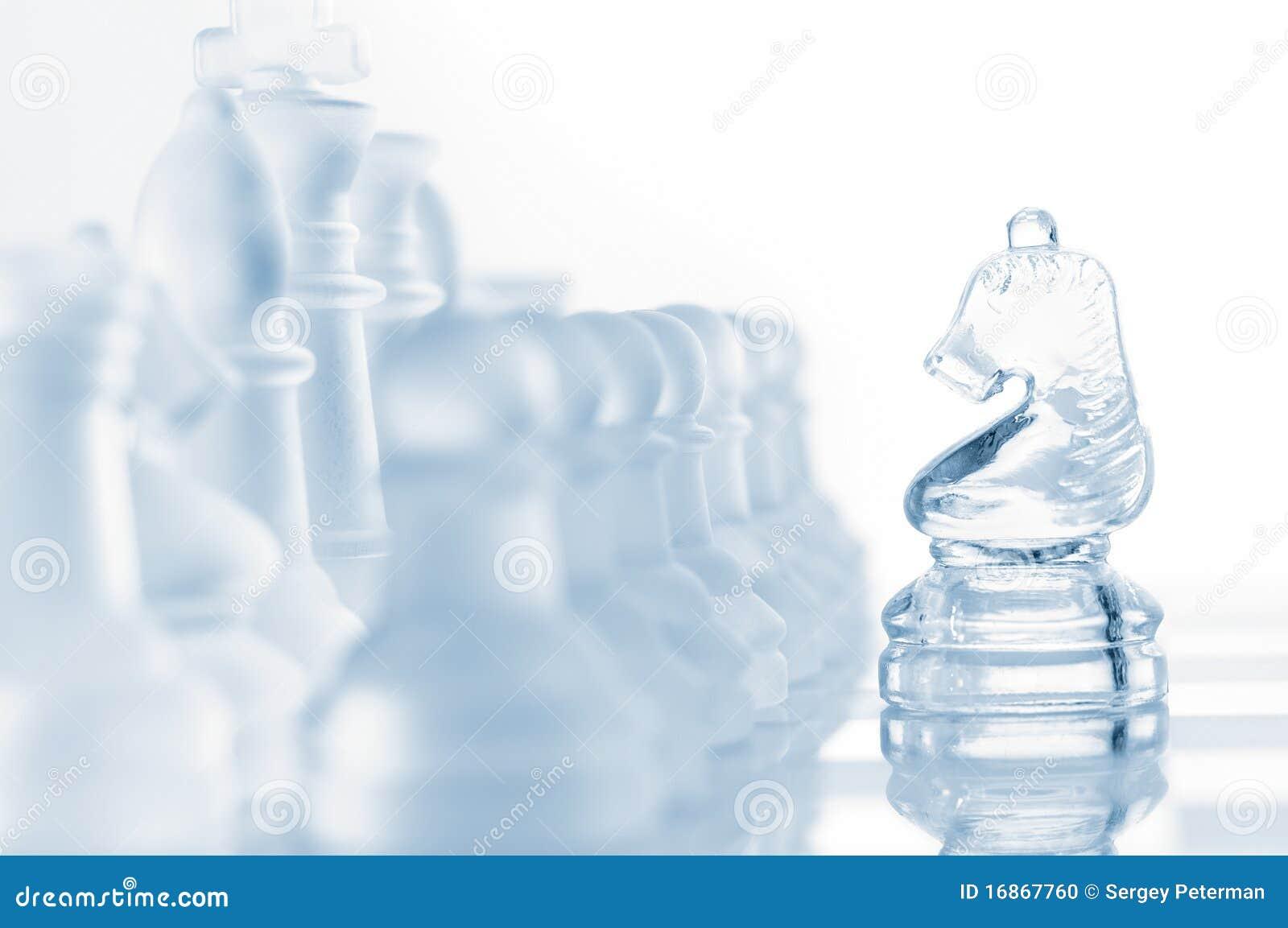 Cavaleiro de vidro da xadrez