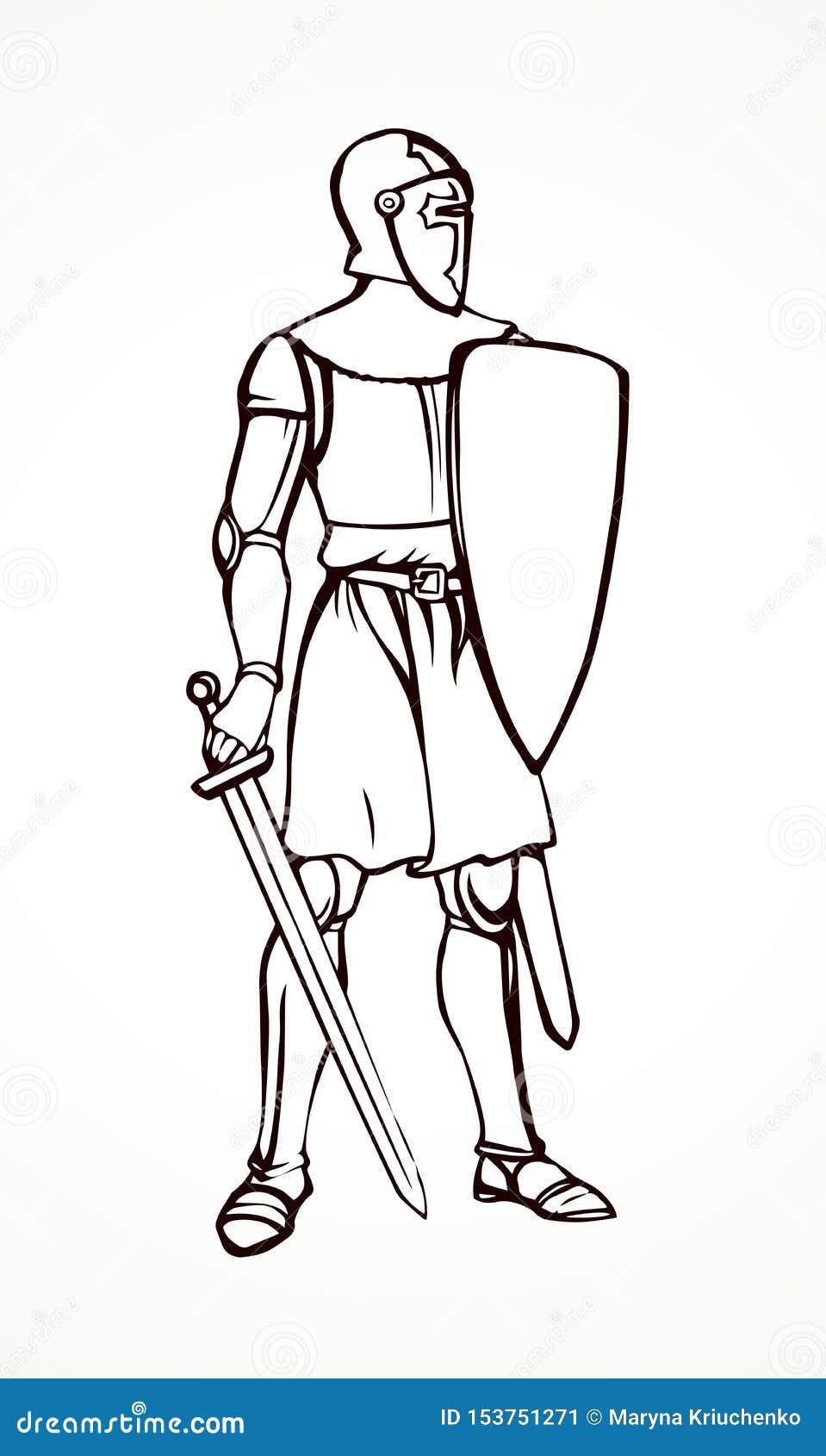 Cavaleiro Desenho Do Vetor Ilustracao Do Vetor Ilustracao De