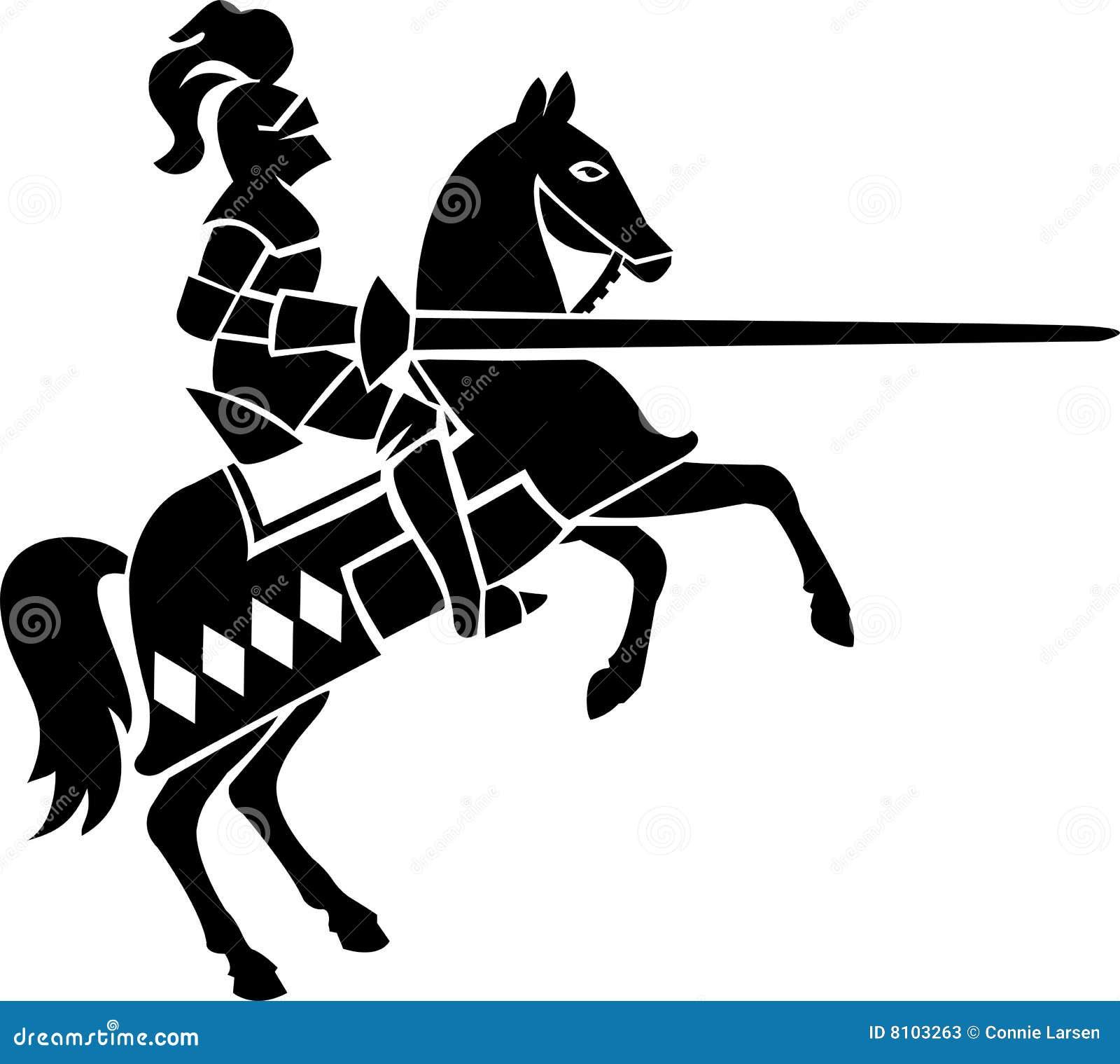Cavaleiro no cavalo