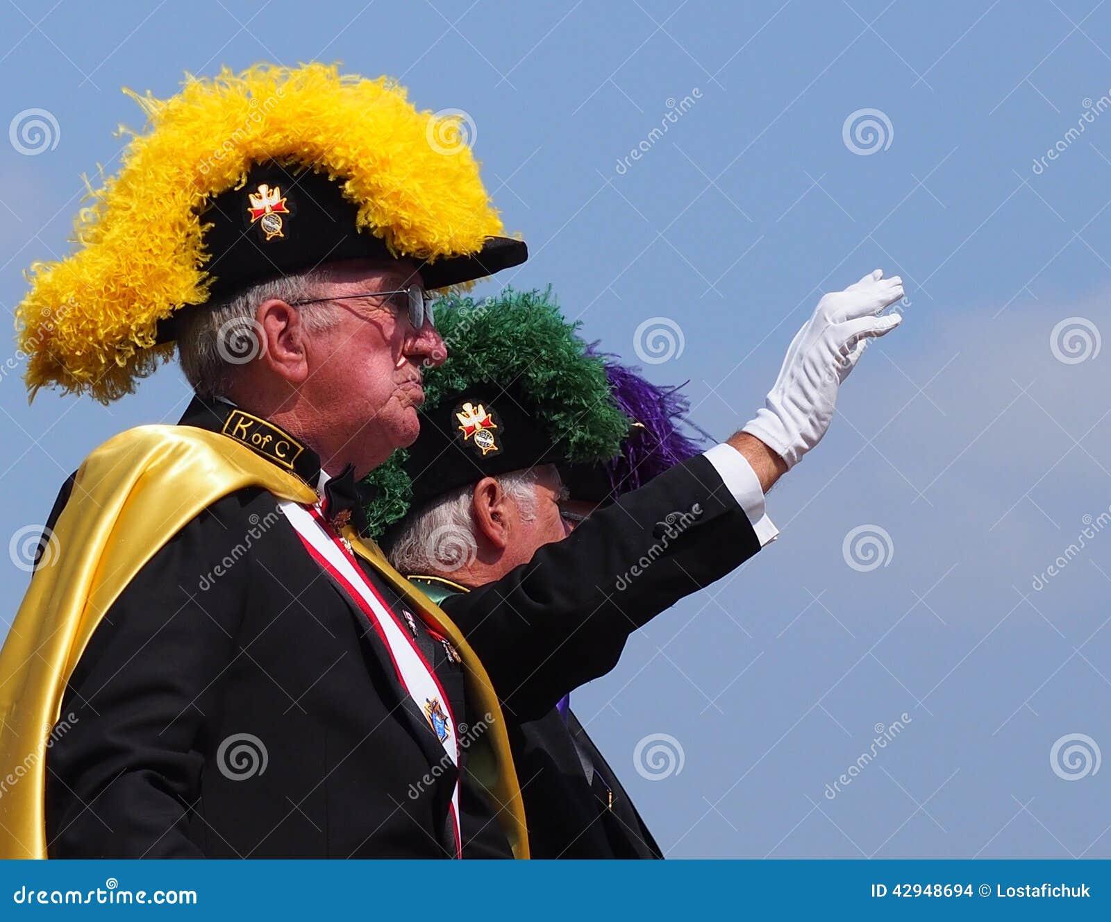 Cavaleiros de uma parada de K-dias de Columbus In