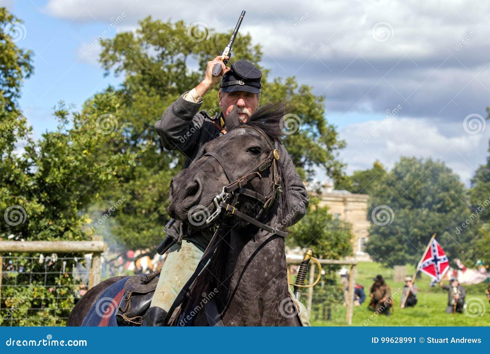 Cavalier confédéré de la guerre civile américaine