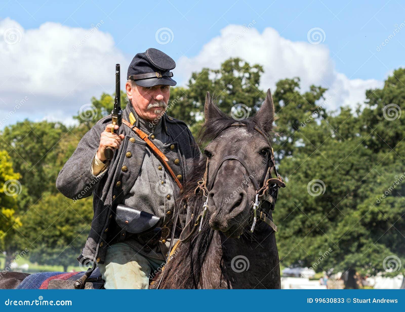 Cavaliere confederato della guerra civile americana
