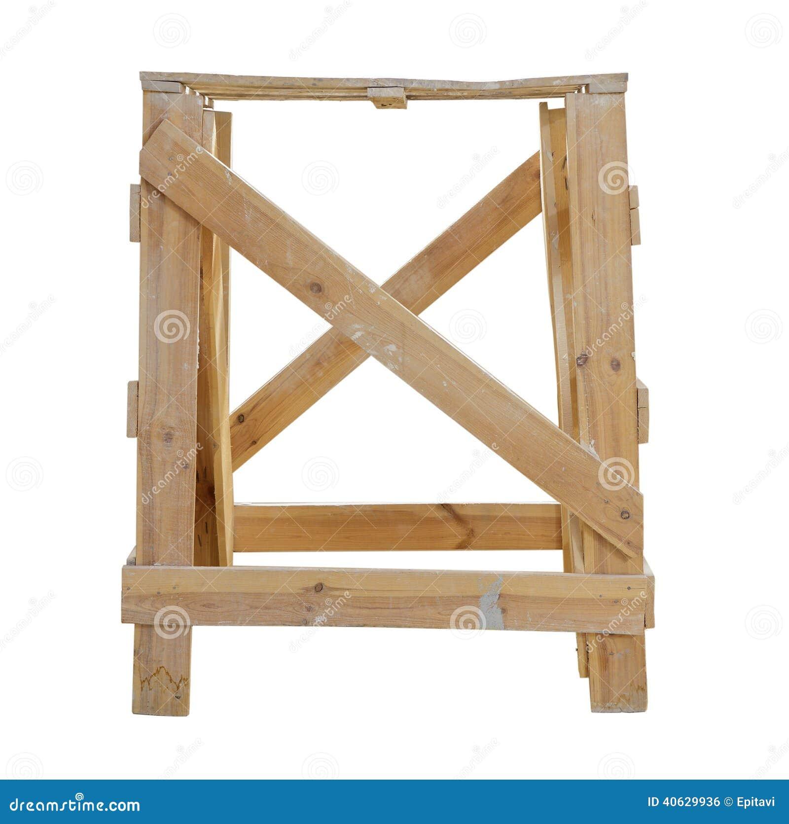 Cavalletti di legno fotografia stock. Immagine di architettura ...