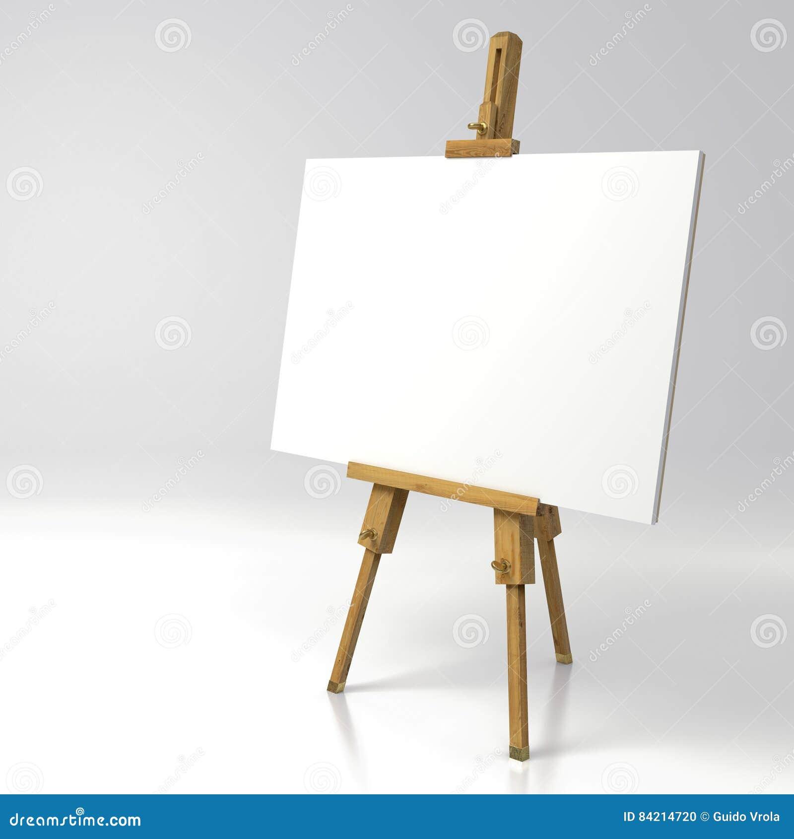 Cavalletto di legno del pittore