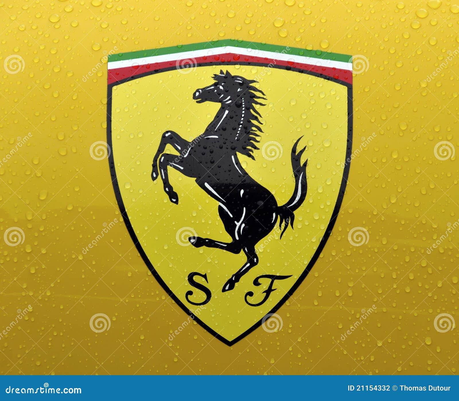 The Cavallino Rampante Symbol Of Ferrari Editorial Photography