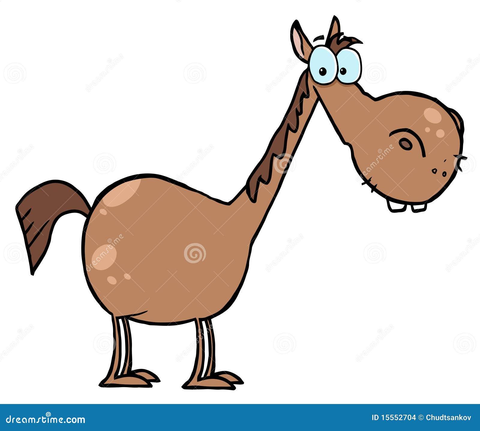 Cavallo del personaggio dei cartoni animati immagini stock