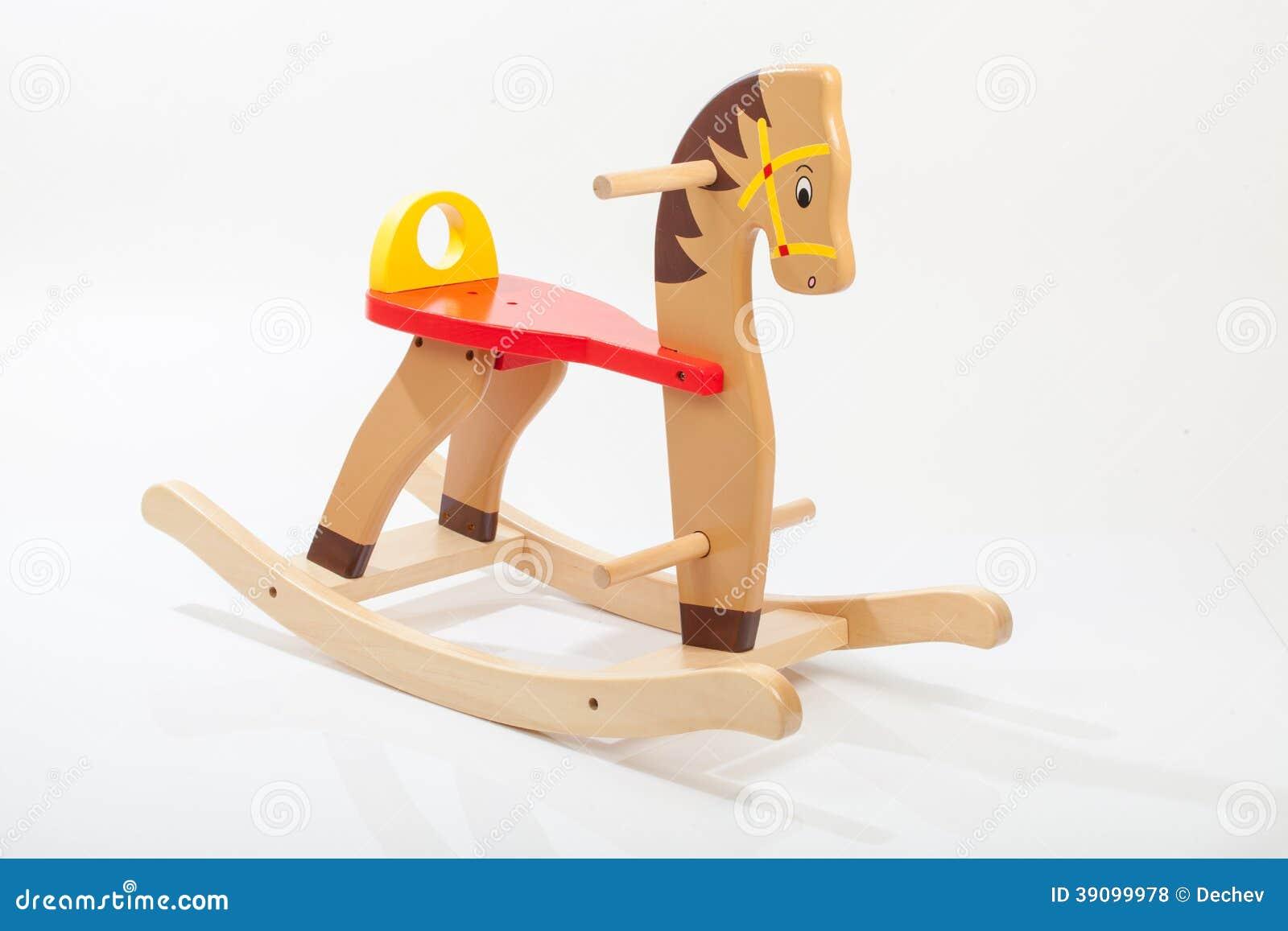 Cavallo A Dondolo Legno.Cavallo A Dondolo Di Legno Fotografia Stock Immagine Di