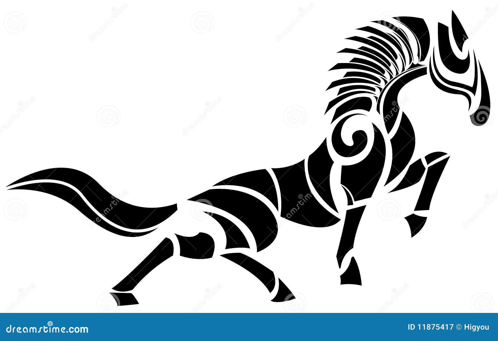 Cavallo stilizzato fotografia stock libera da diritti for Disegno cavallo stilizzato