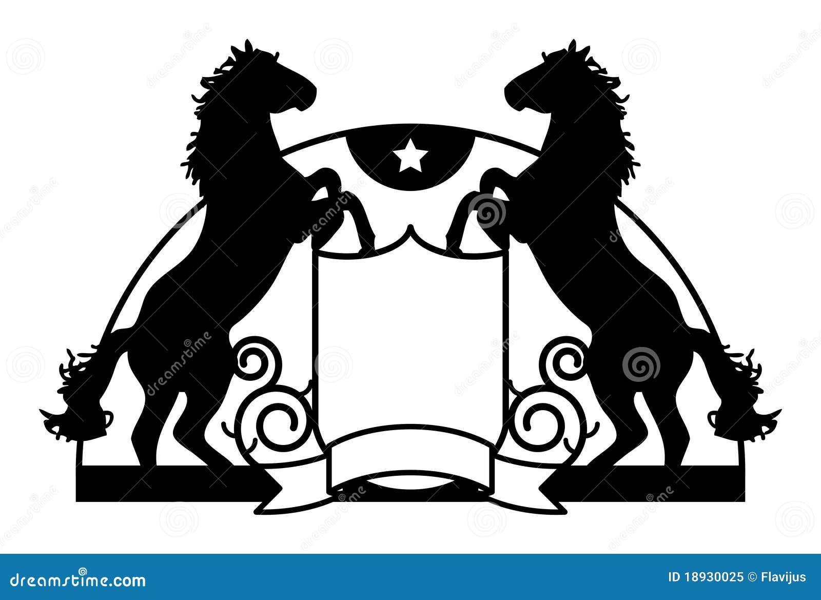 Cavallo Stilizzato Illustrazione Vettoriale Illustrazione