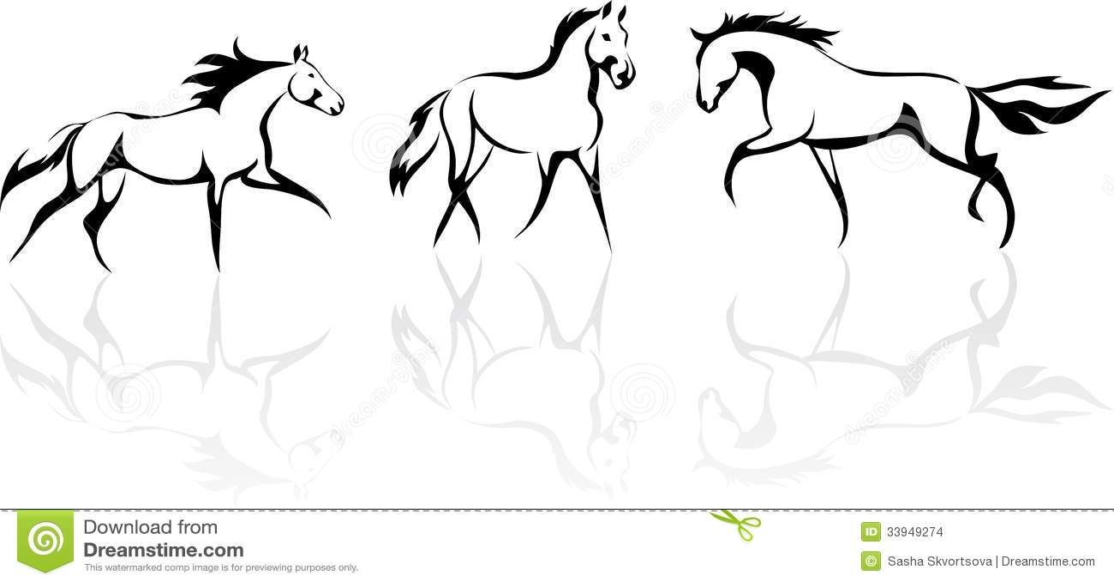 Cavallo Stilizzato Immagini Stock Immagine 33949274