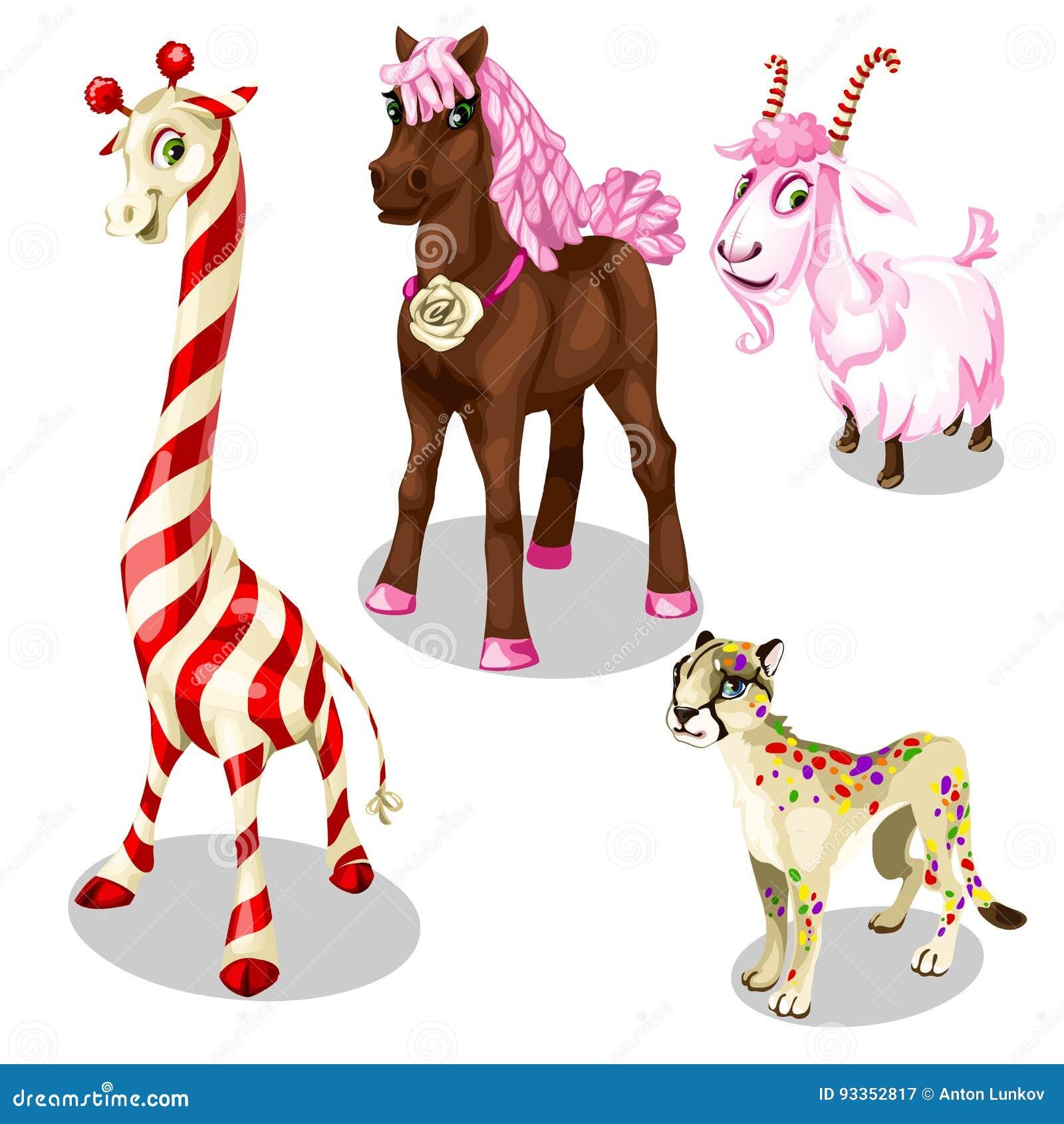 Cavallo stilizzato puma capra giraffa sotto i dolci for Cavallo stilizzato
