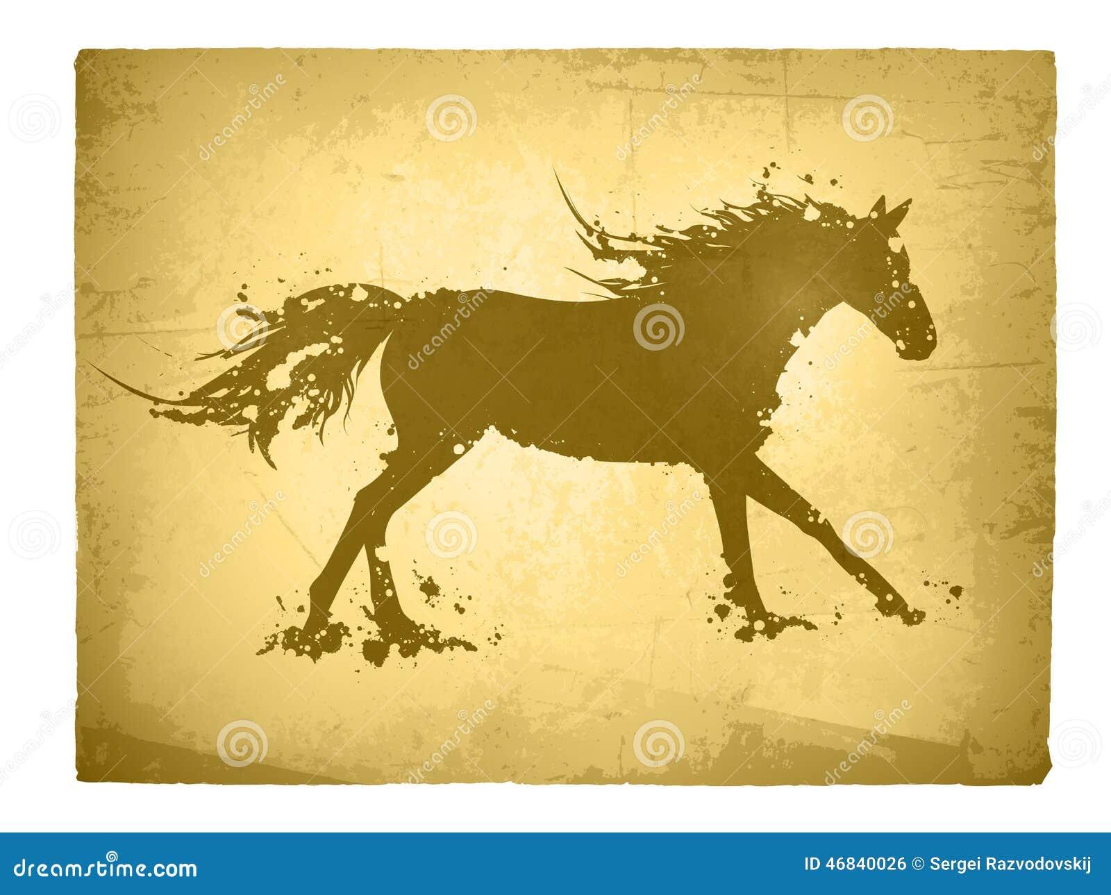 Cavalo abstrato do vintage
