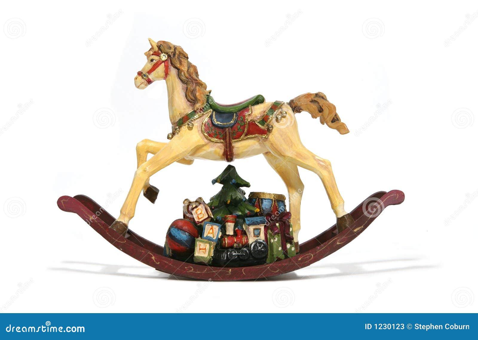 Cavalo de balanço do Natal