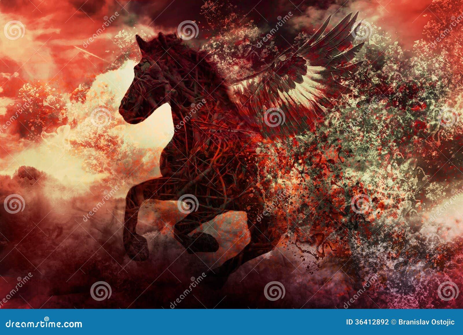 Cavalo escuro da fantasia