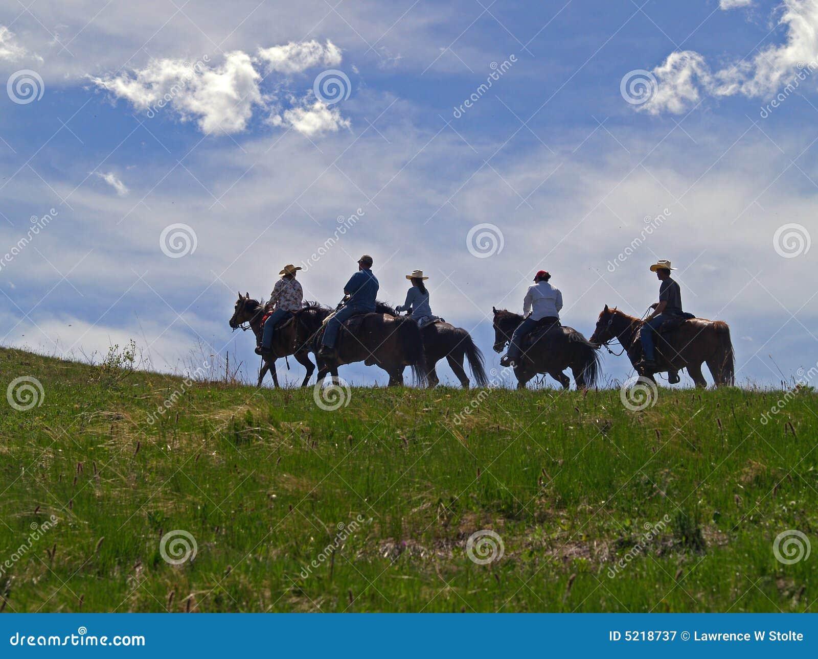 Cavalos e cavaleiros em Ridge