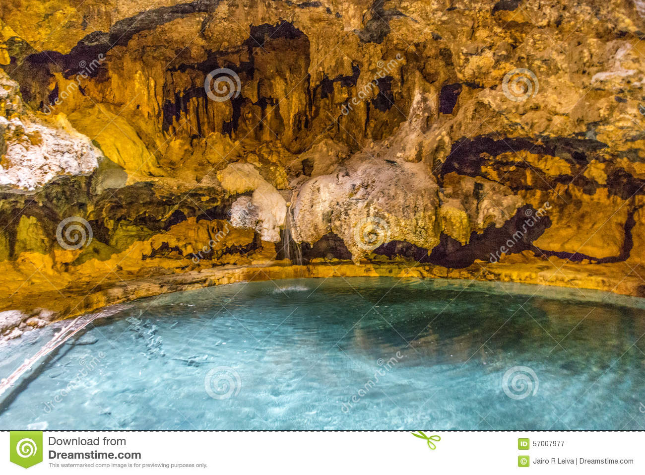 Inside Pool Cave cave and basin in banff stock photo - image: 57007977