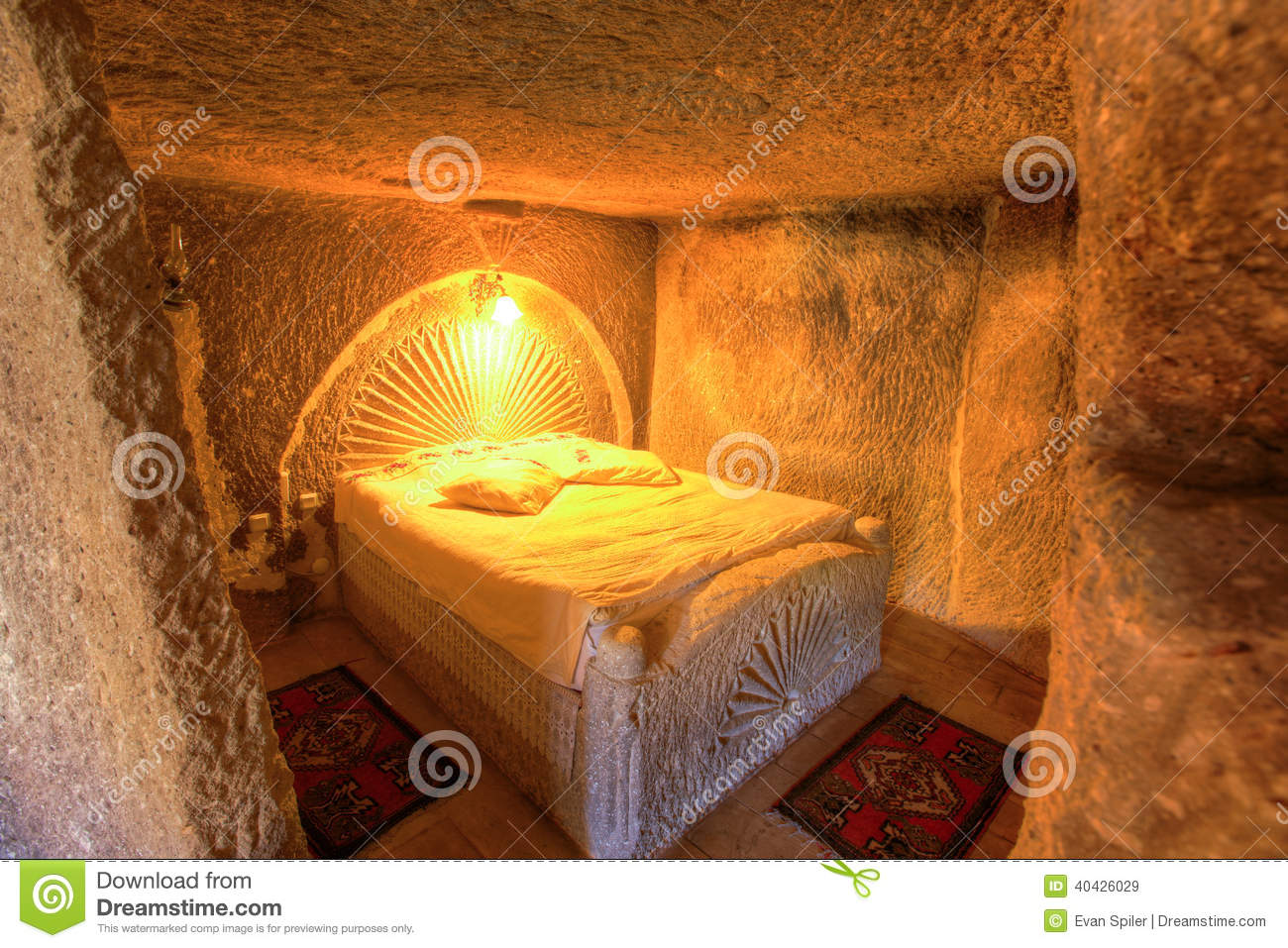 Cave Bedroom Stock Image Image Of Hotel Interior Cave
