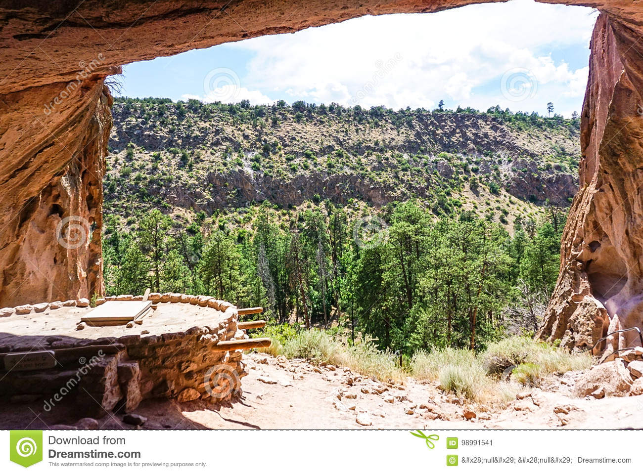 The Alcove House at Bandelier National Monument Park in Los Alamos,New Mexico