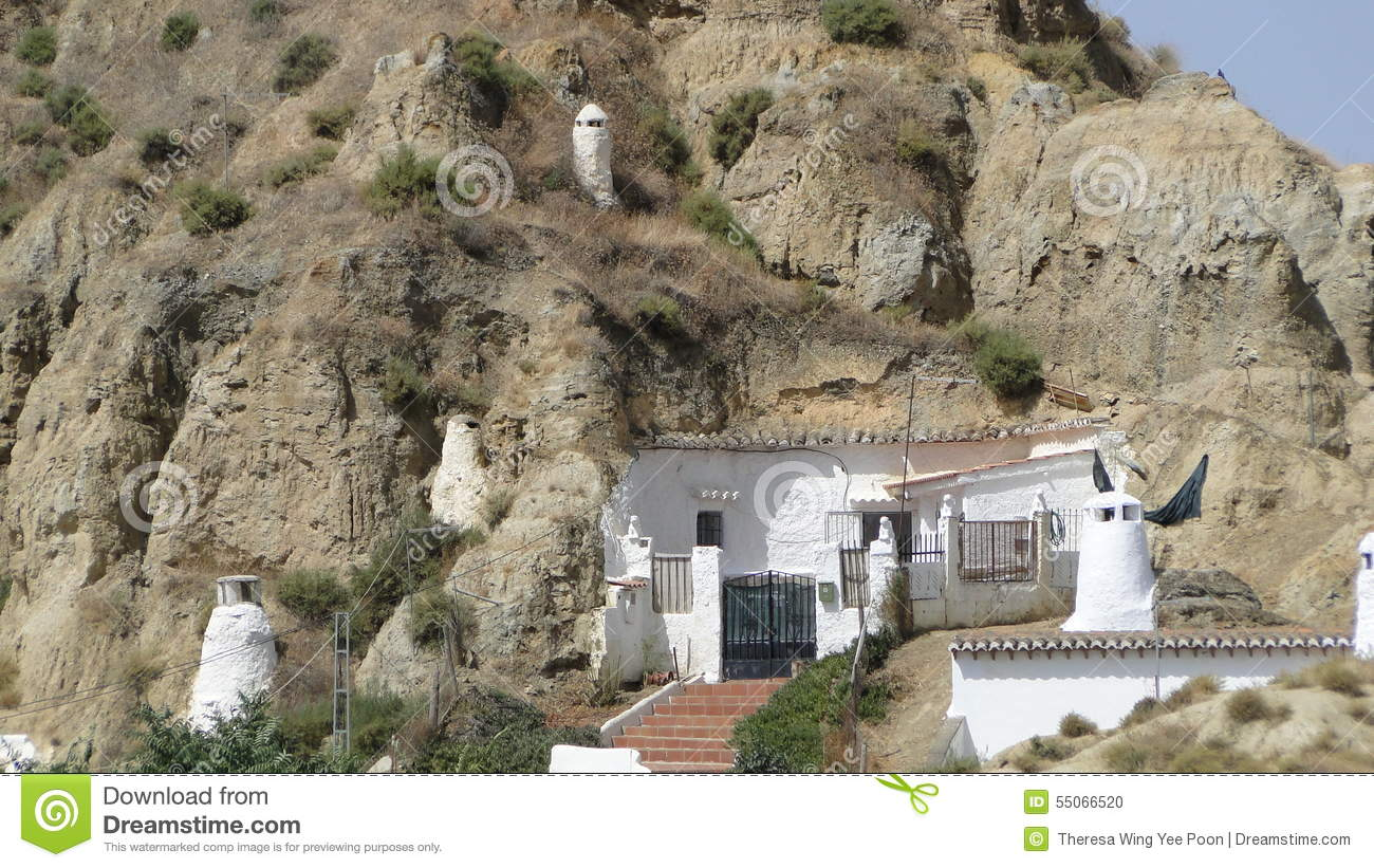 Cave Dwelling In Guadix Spain Editorial Image Image Of