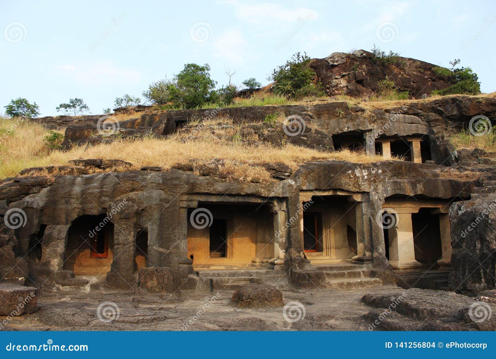 Cave 24, group of five caves, Ellora caves, Aurangabad, Maharashtra