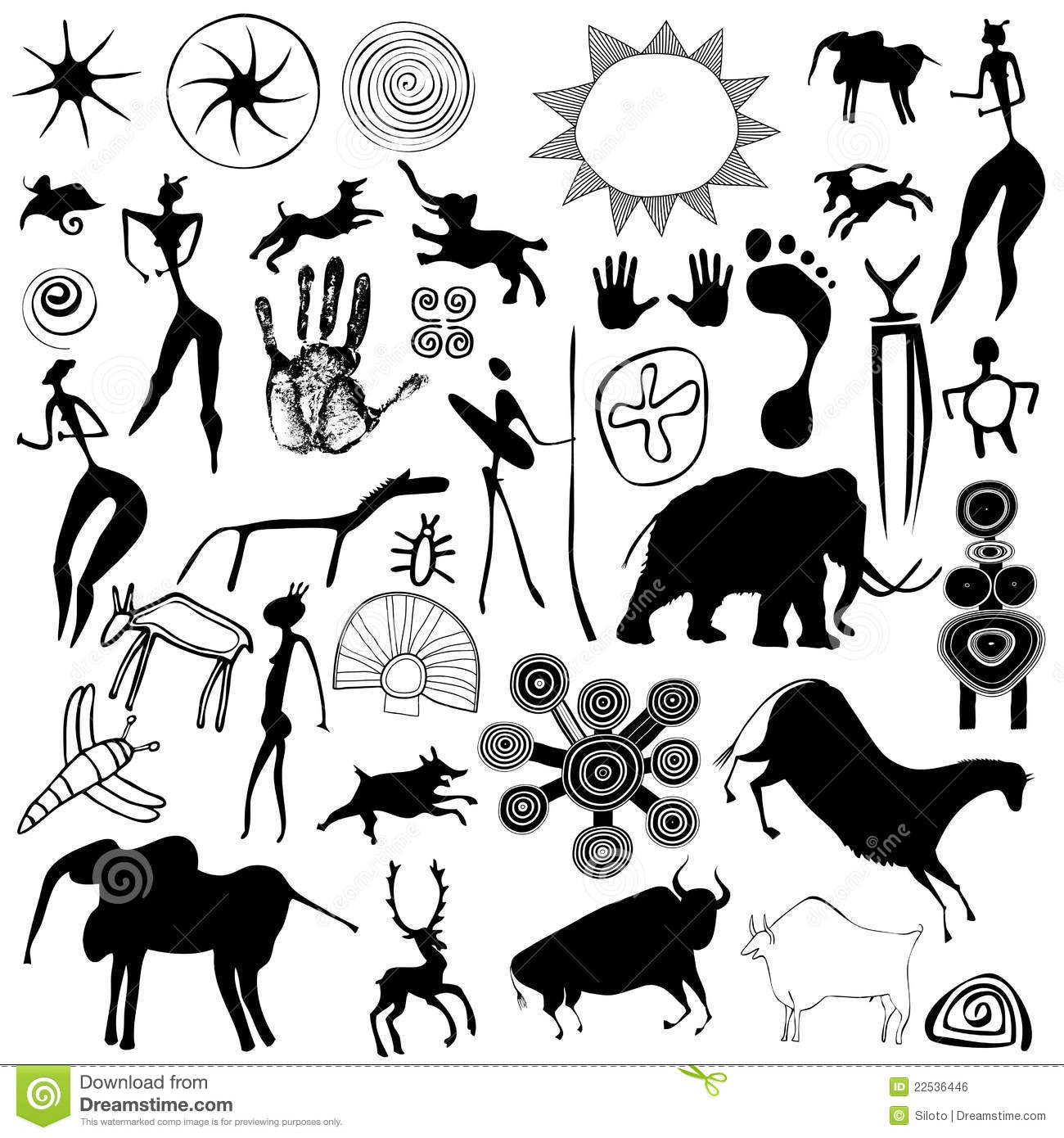 Cave Painting Primitive Art Vector Royalty Free Stock Image Image 22536446