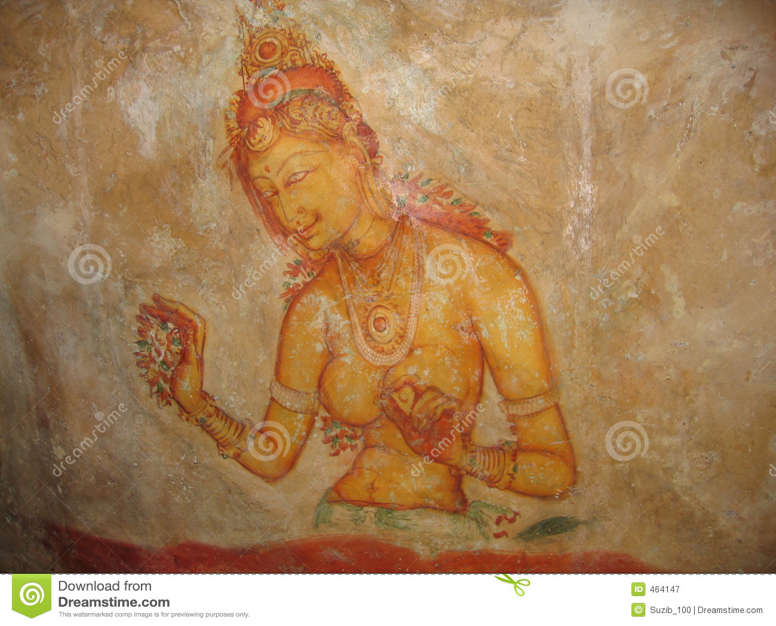 Cave Painting Sri Lanka Royalty Free Stock Photography