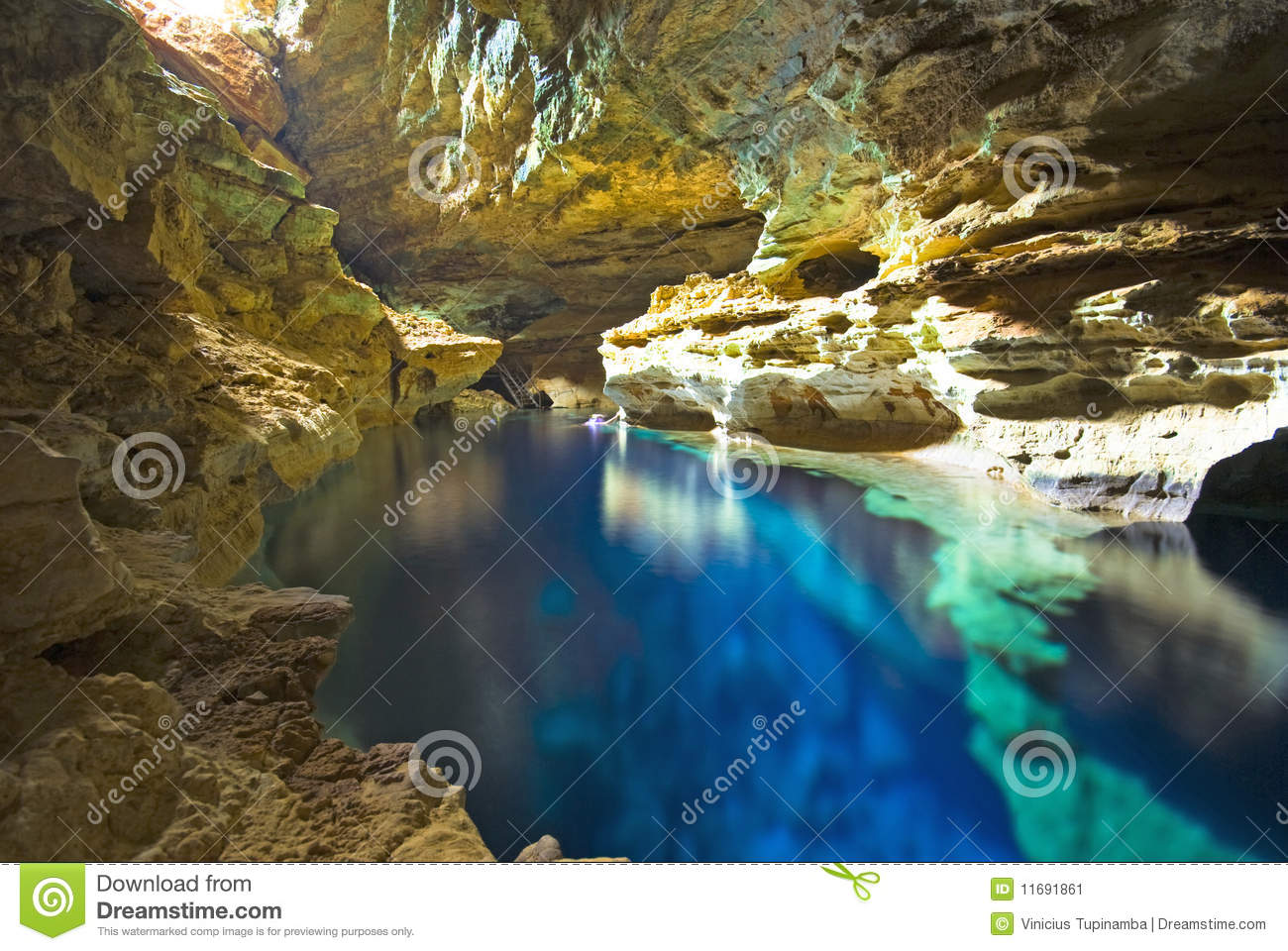 Download Cave Swimming Pool Stock Image Of Underground