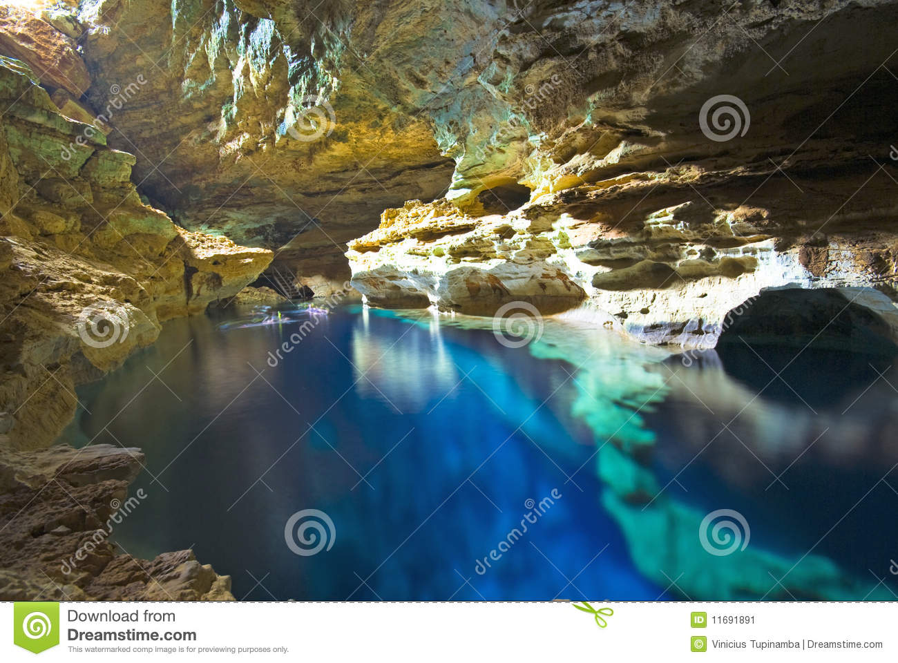Cave Swimming Pool Stock Image Image Of Swimming Mineral