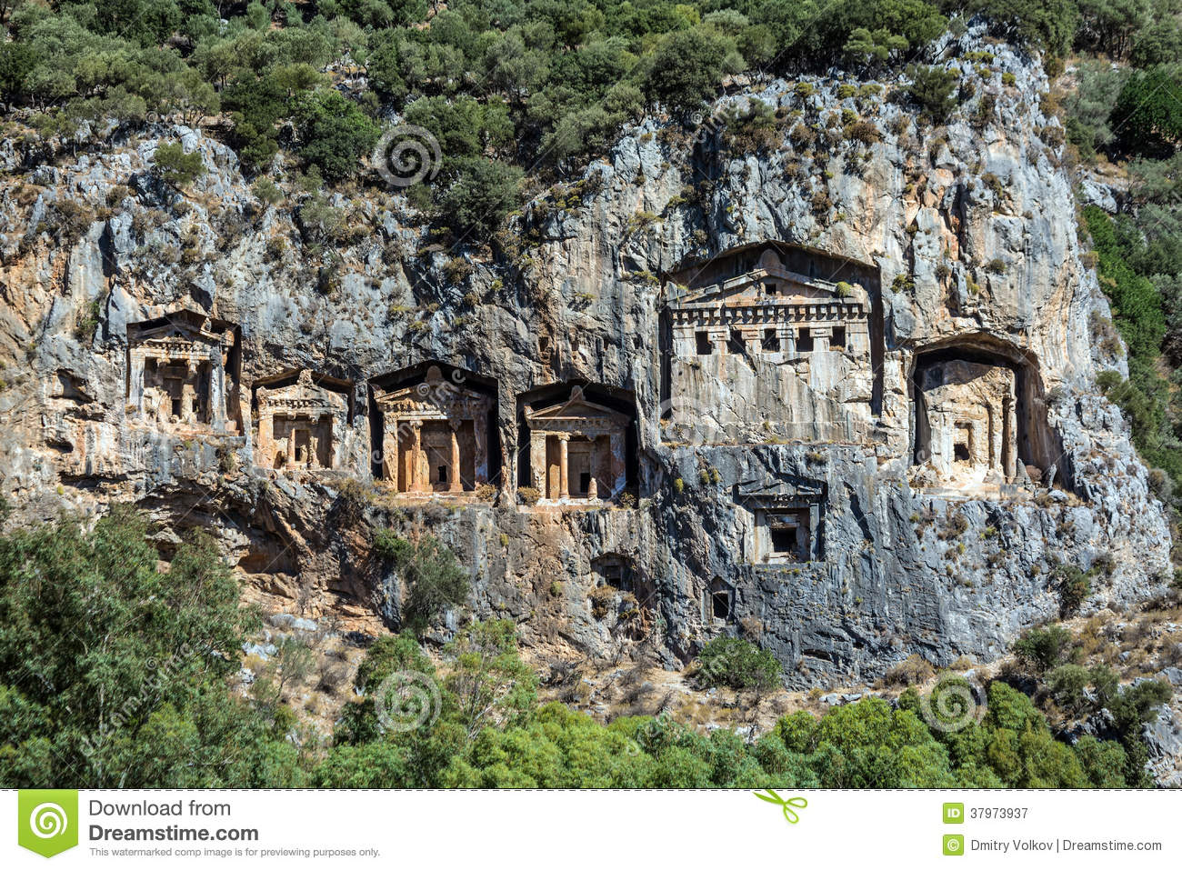 Cave Tombs Of Kaunos Royalty Free Stock Photography ...