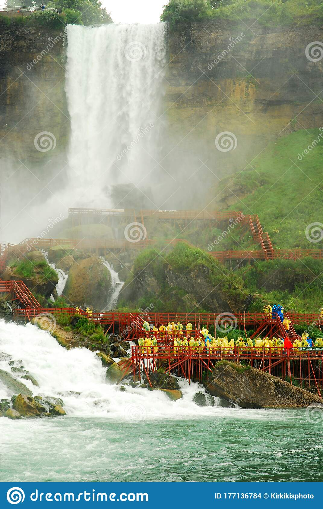 Cave Of The Winds Niagara Falls Editorial Stock Image Image Of Destination Adult 177136784