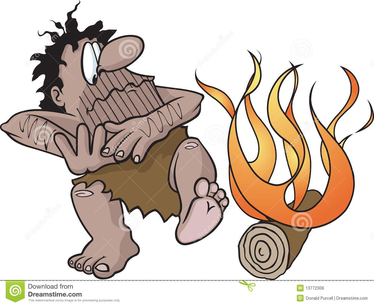 Caveman Fire : Caveman with fire royalty free stock photos image