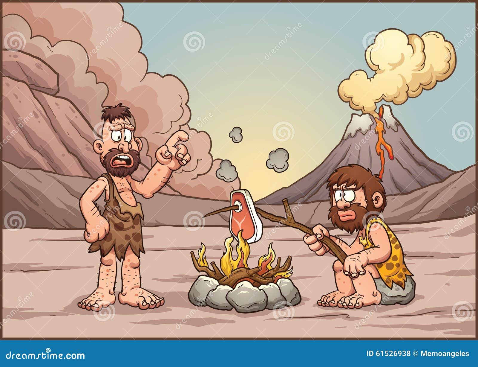 Cavemen talking stock vector image 61526938 for Illustration minimaliste