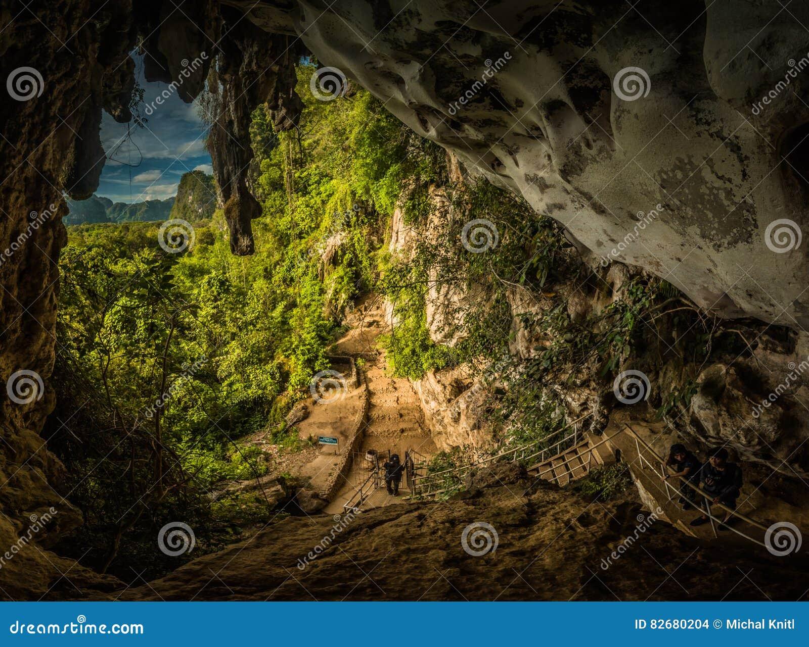 Caverna com petroglyphs
