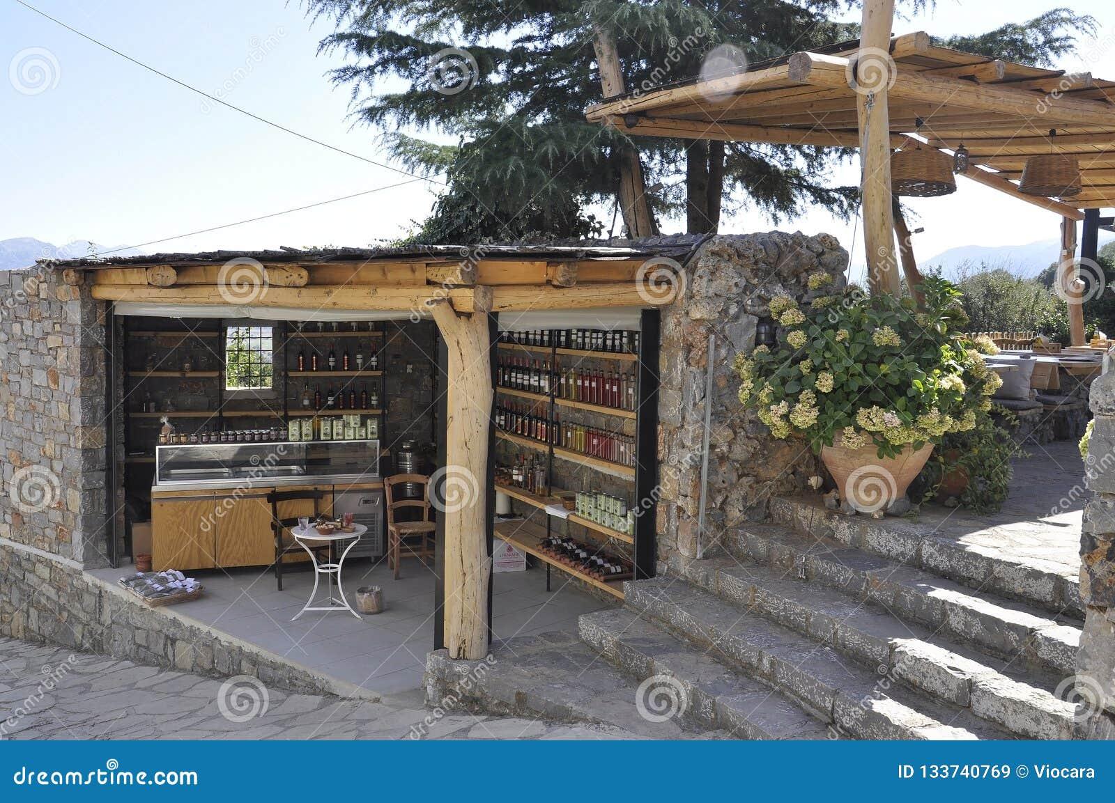Caverna di Zeus Way Olive Oil Kiosk nell isola di Creta della Grecia