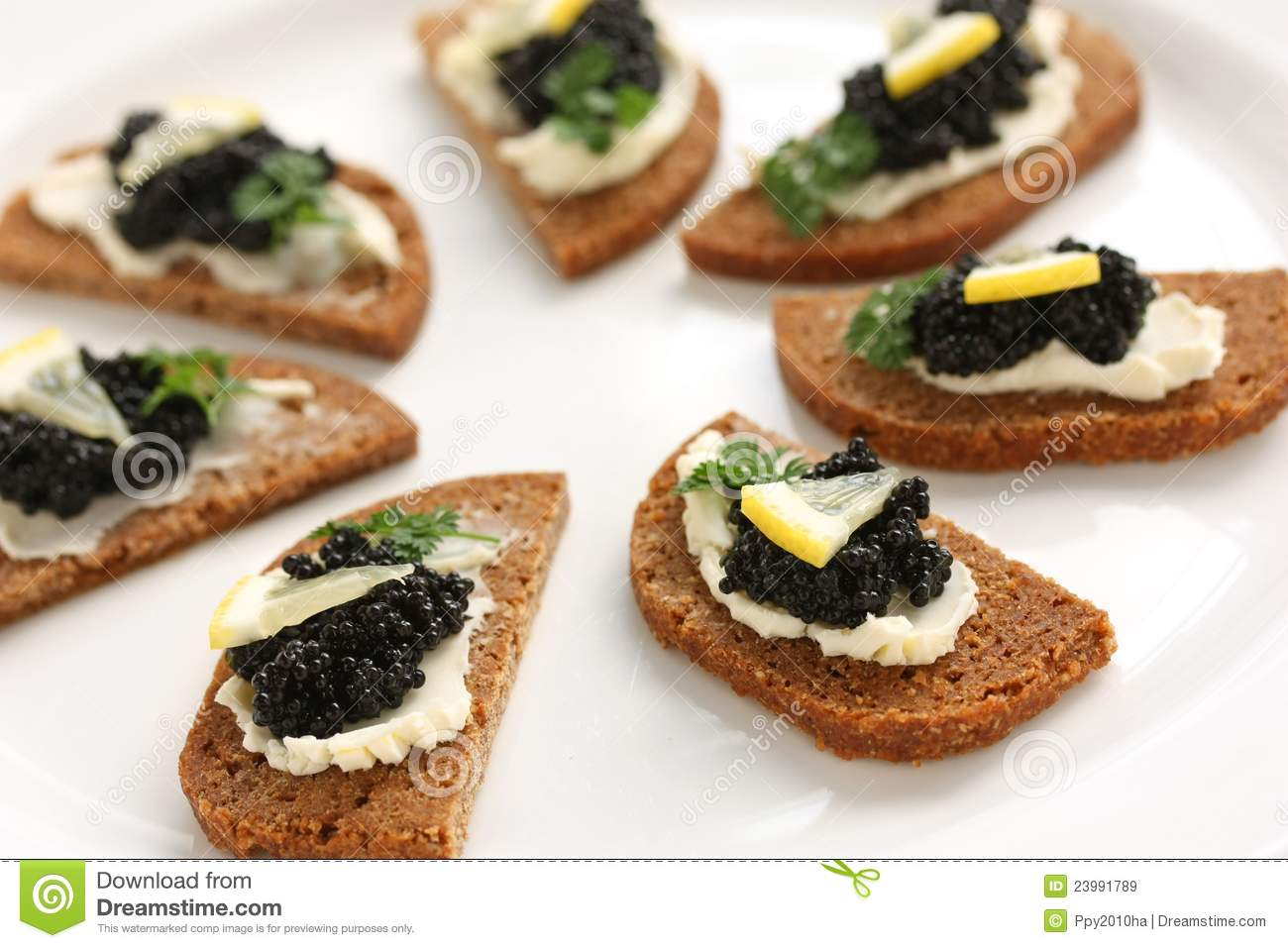 caviar canapes stock image image of starter canape. Black Bedroom Furniture Sets. Home Design Ideas