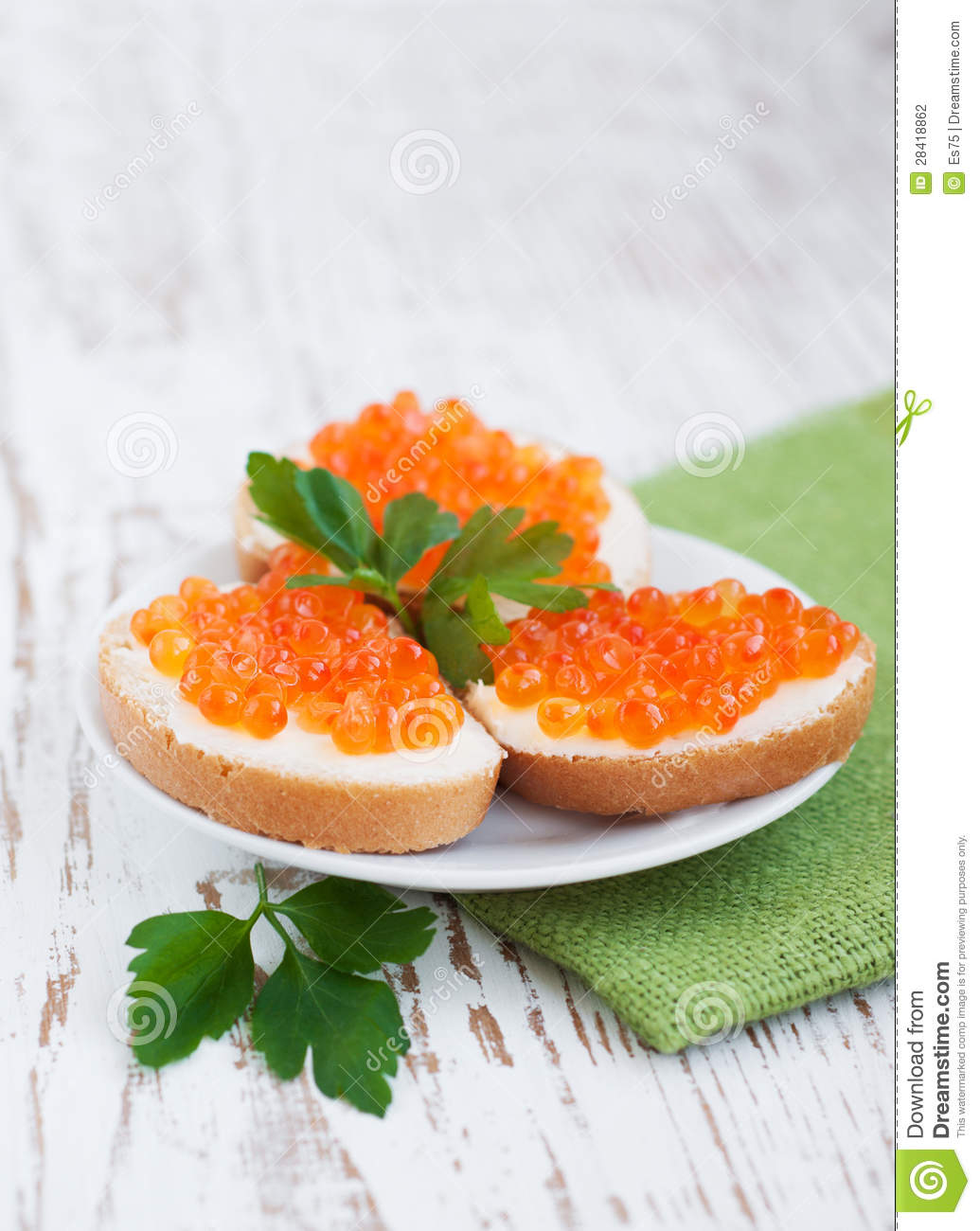 Caviar canapes for Canape with caviar