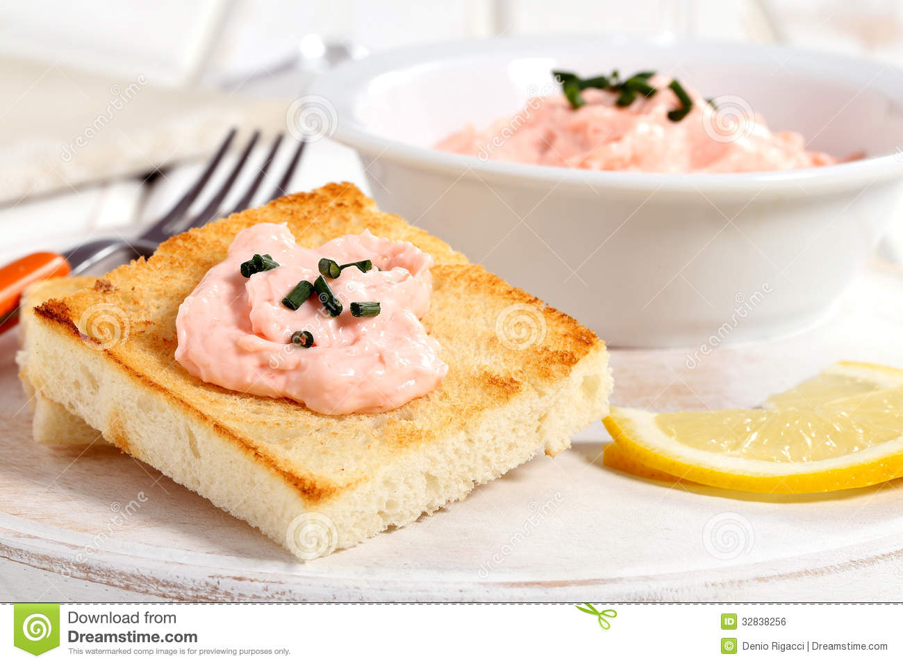 Download Caviar salad on toast stock photo. Image of life, dish - 32838256