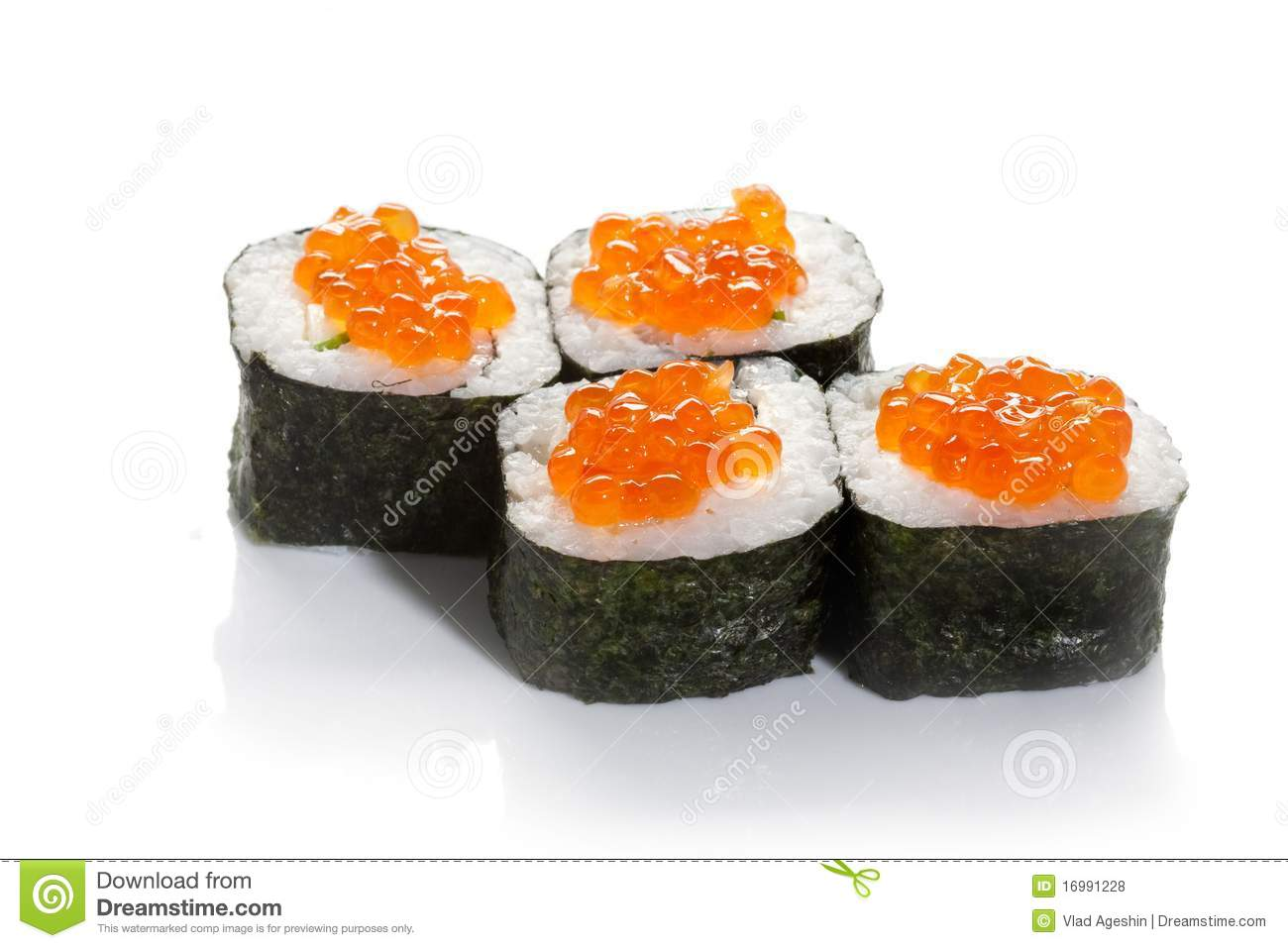 Caviar Sushi Maki Royalty Free Stock Photos - Image: 16991228