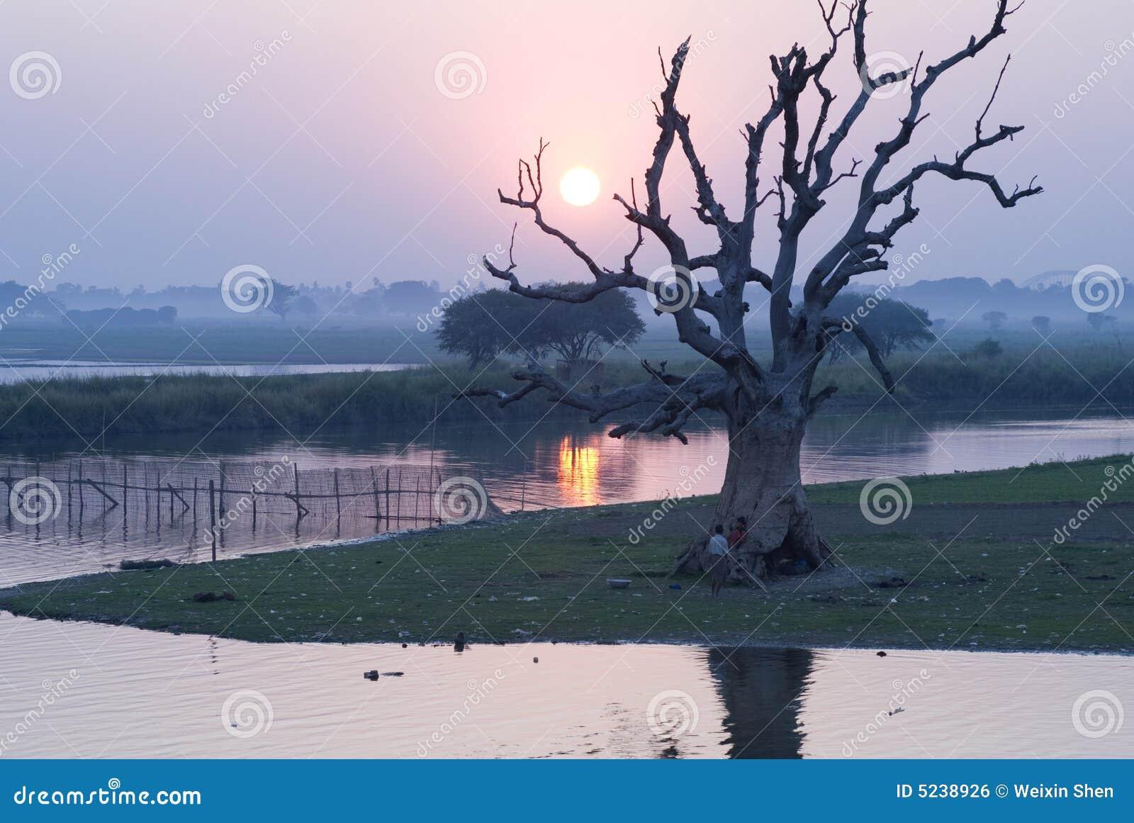 Cavo di sicurezza del Myanmar il riv irrawaddy