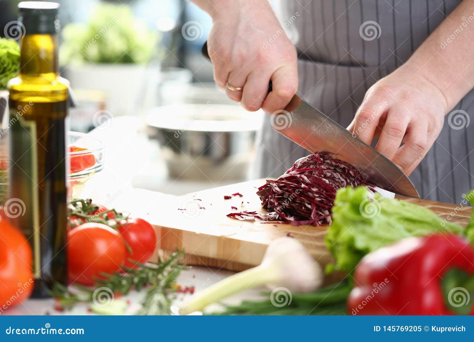Cavolo professionale di Hands Slicing Purple del cuoco unico