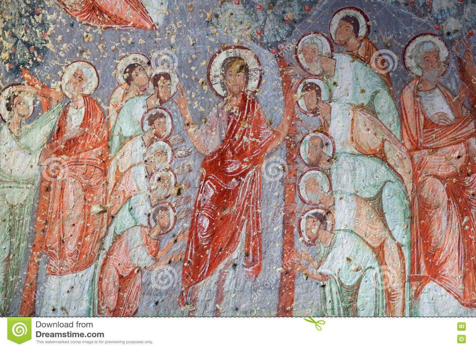 Cavusin kyrka i Cappadocia, Turkiet