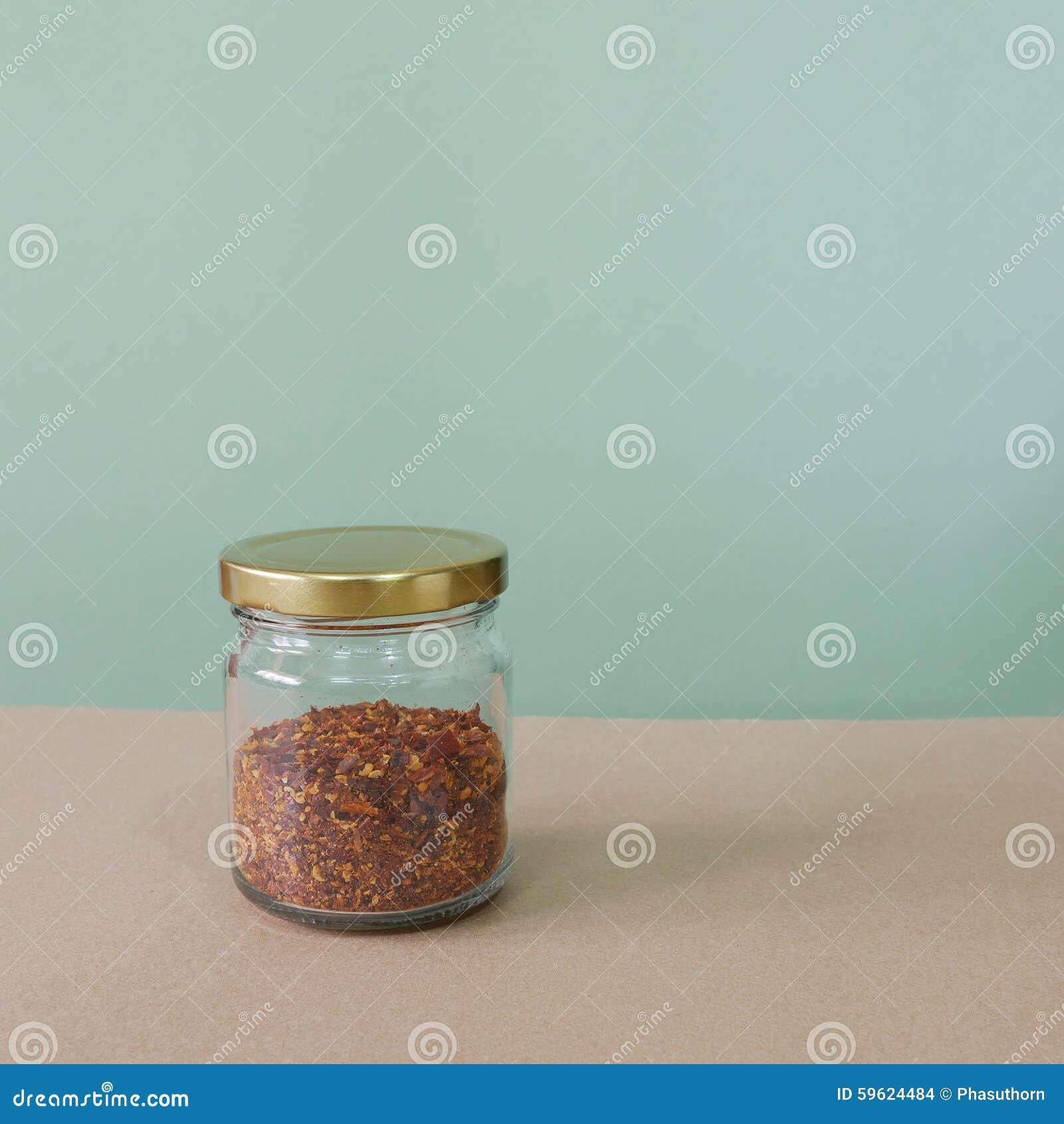 Cayenne pepper in glass bottle (#2)