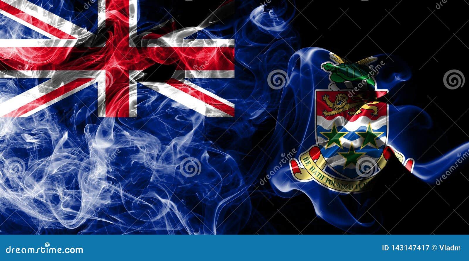 Caymanöarna röker flaggan, beroende territoriet flagga för brittiska utländska territorier, det Britannien