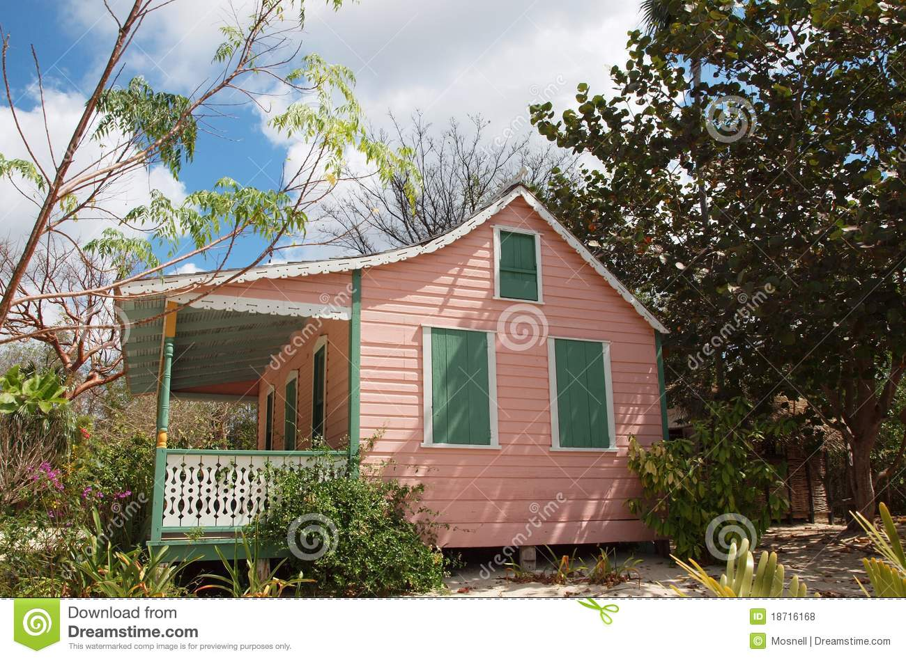 Colourful Homes On Grand Cayman Stock Images Image 10607234